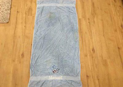 """Handtuch """"Manuel"""" blau"""